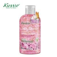 Kustie Body Wash Skin Brightening Lightening Cherry Blossom Bath Gel 220ml Shower Cream