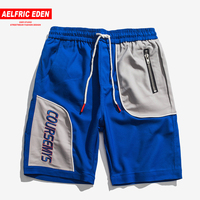Aelfric Eden Color Contrast Patchwork Men Shorts Cotton Streetwear Breathable Work Out for Man Casual Short Pants Sweatpants