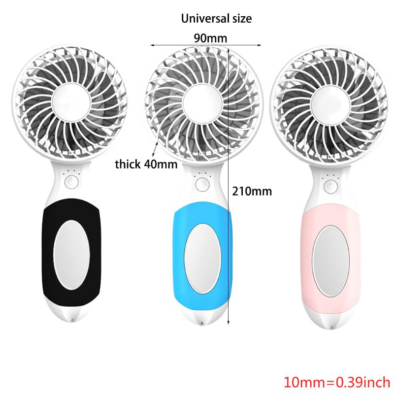 Handheld USB portable mini charging small fan with mini makeup mirror fan bracket in USB Gadgets from Computer Office