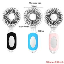 Handheld USB portable mini charging small fan with makeup mirror & bracket