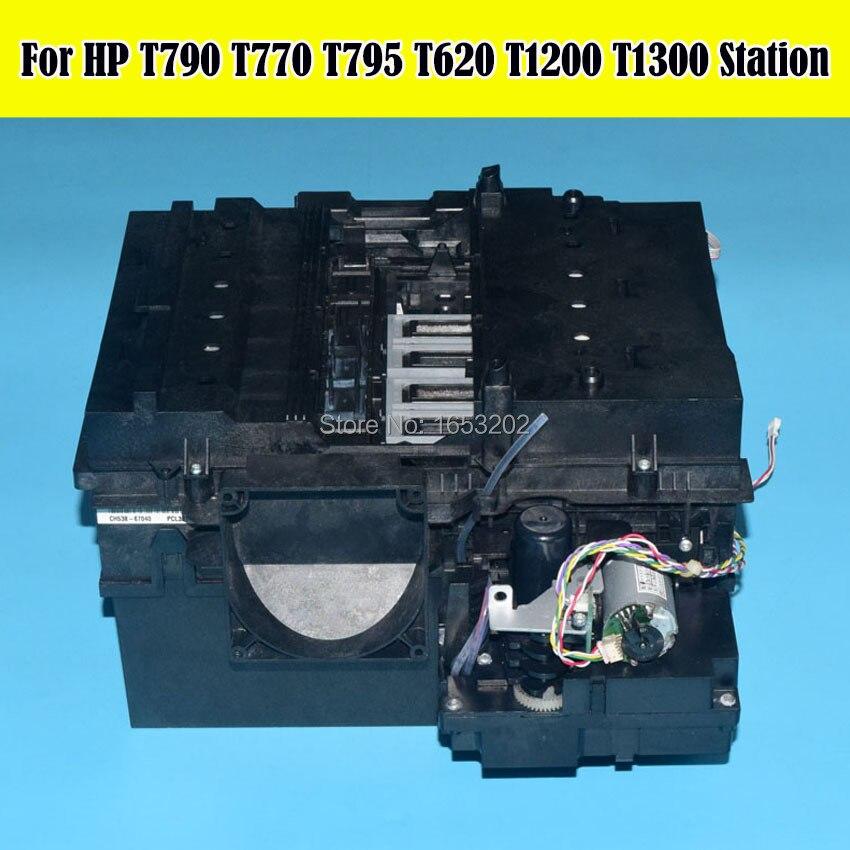 1 Set 90% New Original Service Clean Station Assembly CH538-67040 For HP Designjet T610 T620 T770 T790 T795 T1300 Printer service station for hp officejet 7000 6000 6500 7500a hp7000 hp6000 clean ink pump unit