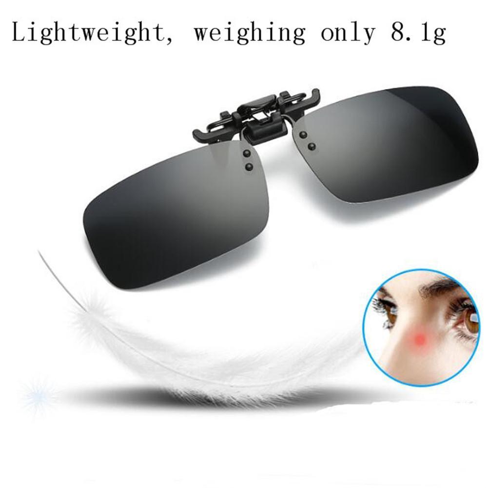 Fishing Eyewear Clip On Style Sunglasses UV400 Polarized Fishing Eyewear Day Time / Night Vision Glasses