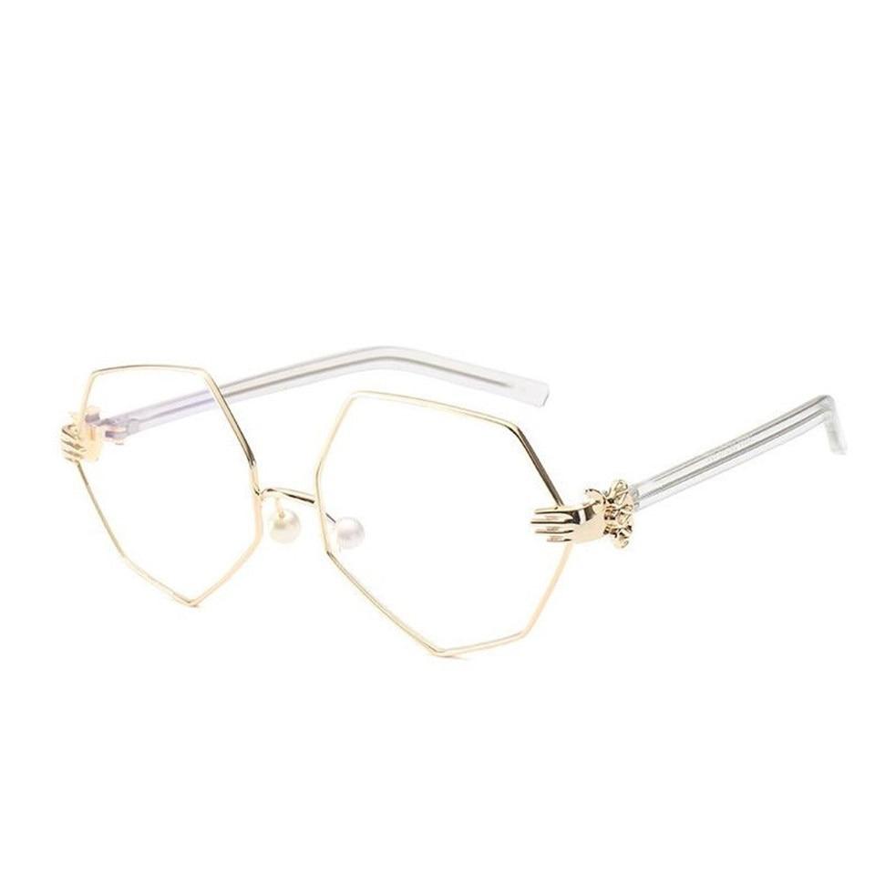 BAMONA Fashion Men Women Eyeglasses Frames Transparent clear Pearl ...