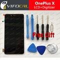 Oneplus x display lcd sensor de tela de toque + ferramentas 100% novo digitalizador substituição para 5.0 polegada one plus x caixa do telefone móvel