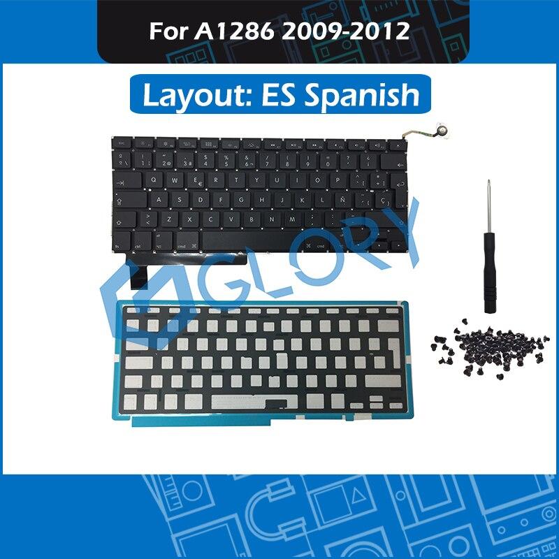 New ES Spanish A1286 Keyboard For font b Macbook b font Pro 15 4 2009 2012