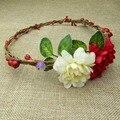 1pcs Handmade Flower Crown Headband Bridal Hair Flower Bridesmaid Woman Girls Wedding Party Hair Accessories Natural Berry Cane