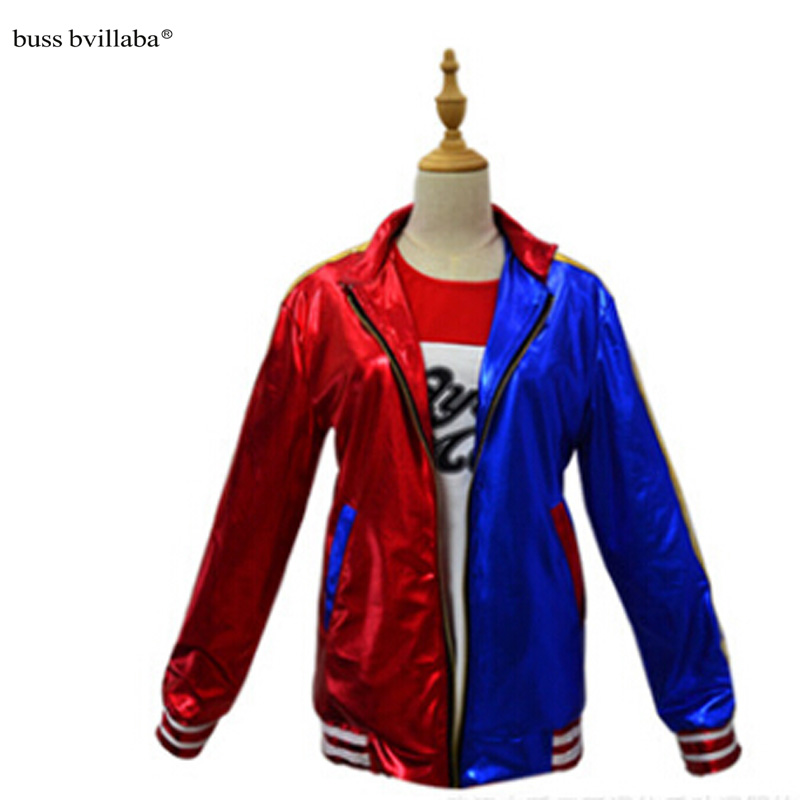 Suicide Squad Harley Quinn Cosplay Costume Clothing Women Batman Arkham Asylum City Joker Movie Halloween Anime Top Jacket