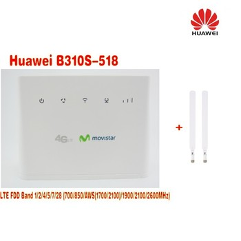 (+2pcs antenna)UNLOCKED-Huawei-B310s-518-LTE-4G-WiFi-Router-Broadband-FDD-Band-1-2-AWS-5-7-28