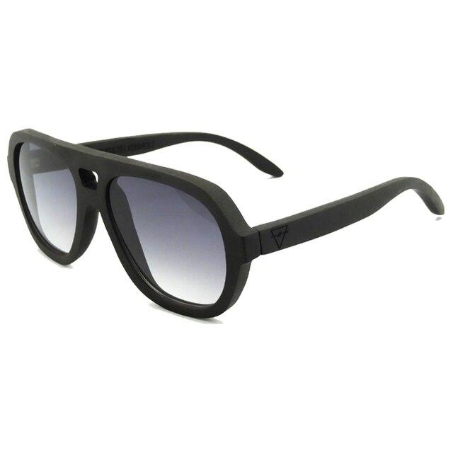 High quality ebony wooden sunglasses polarized real wood sun glasses oversized sunglasses with logo 6130