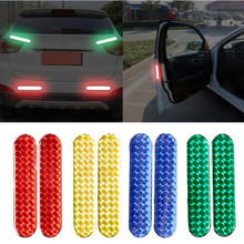 YEAHGOOD 4pcs set Car Door Sticker Decal Warning Tape Car Reflective Stickers Reflective Strips Car-styling 4 Colors Safety Mark 4pcs set open car door stickers auto warning mark reflective strips tail rear reflective tape driving safety