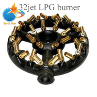 EARTH STAR Cast Iron 32 Jet Ring Burner For Gas COOKING STOVE Promotion Price