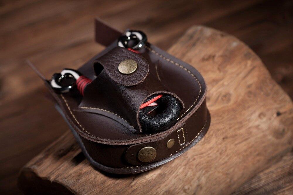 Estojo de couro Saco Da Cintura Bolsa para Slingshot e Bolas De Aço, Esportes Saco de bolso Slingshot Catapult Caça