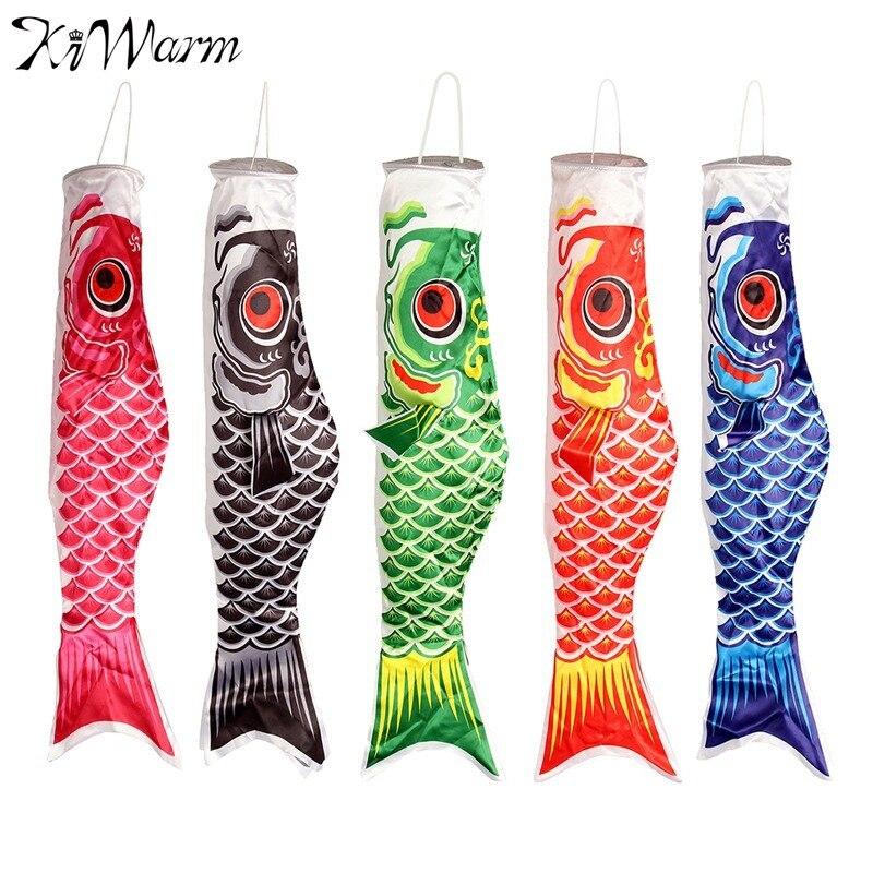 Kiwarm 40 cm estilo japonés koi nobori carpa viento calcetín ...