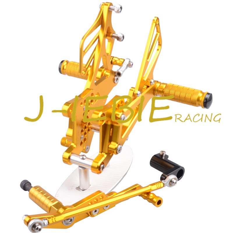 CNC Racing Rearset Adjustable Rear Sets Foot pegs Fit For Yamaha YZF R1 2007 2008 GOLD morais r the hundred foot journey