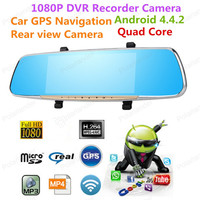 7 Rearview Mirror Camera Novatek Car DVR With Two Camera Auto Video Registrator Full HD 1080P mirror logger