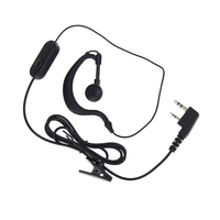 baofeng bf 888s יוניברסל Baofeng UV5R מכשיר הקשר אוזניות K Plug אוזניות עבור Baofeng UV5R BF-888S עבור רדיו Ham אוזניות Kenwood TK3107 (3)