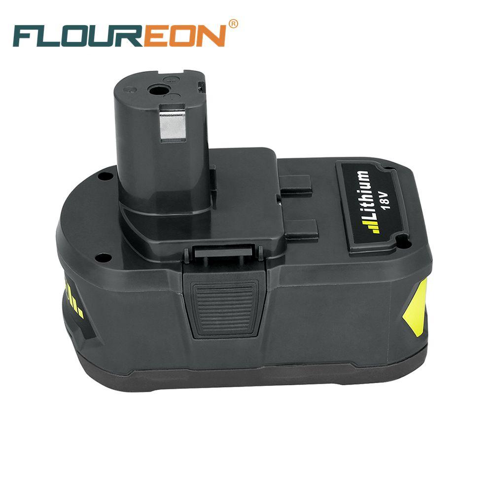 Prix pour Pour Ryobi P108 RB18L40 18 V 4Ah Lithium-Ion Haute Capacité Pack Power Tool Batterie pour Ryobi ONE + Rechargeable batterie