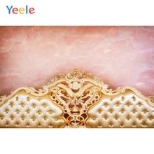 цена на Yeele Golden Headboard Pink Wall Gradient Luxurious Photography Backgrounds Customized Photographic Backdrops for Photo Studio