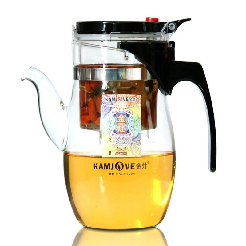 Kitchen Kettle Village Coupons: Free Shipping 600ml Kamjove Tea Pot Elegant Cup Glass Tea