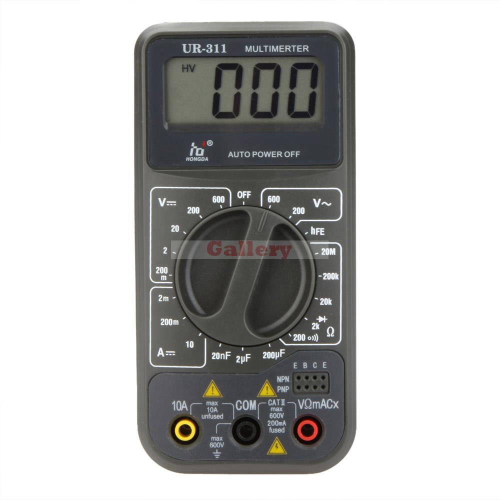 Hd Ur-311 Mini Digital Multimeter Dmm Ammeter Voltmeter Ohmmeter W Capacitance & Hfe Test Fluke Digital Multimeter  цены