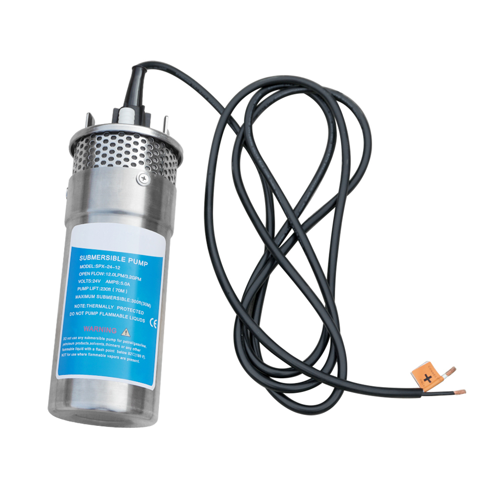 24V Submersible 3.2GPM Well Water DC Pump Energy Solar Battery for Farm Ranch