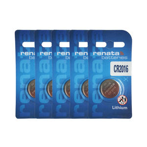 rodgerc Renata 5pcs CR2016 3V Lithium Button Batteries