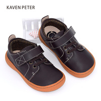 2017 Genuine Leather Shoes Autumn Children Casual Shoes Kids Girls Leather Shoes Boys Sneakers Coffee Brown