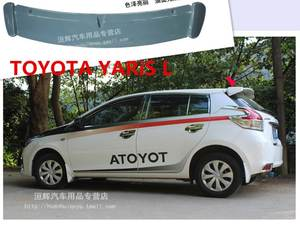 toyota yaris trd spoiler cover grill grand new avanza best rear wing for brands l 2014 2015 2016 2017 spoilers trunk lid diffuser