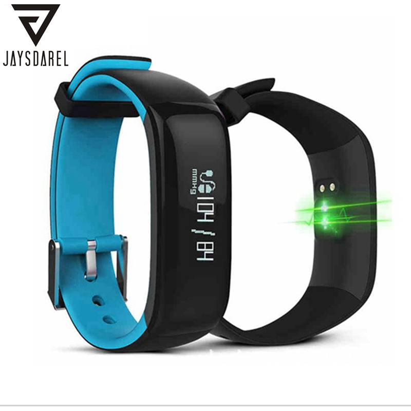 JAYSDAREL P1 Heart Rate Blood Pressure Monitor OLED Smart Watch Sports Waterproof IP67 Smart Wristwatch Bracelet for Android iOS free shipping smart watch c7 smartwatch 1 22 waterproof ip67 wristwatch bluetooth 4 0 siri gsm heart rate monitor ios