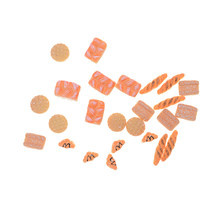 1:12 Items Scale Dolls Mini House Miniature Bakery Bread Artificial Bread Sets Phone Charms Straps Terrarium 5Pcs(China)