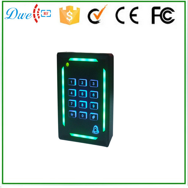 DWE CC RF Keypad doorbell 13.56mhz wiegand 34 cheap rfid reader for security access dwe cc rf rfid card reader 125khz emid or 13 56mhz mf wiegand 26 backlight keypad reader for access control system 002p