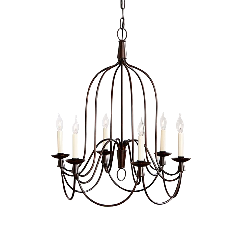 America Style ARMONK 6 ARM INDOOR OUTDOOR CHANDELIER Vintage Country Lamp E14 X 6 Lights