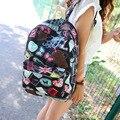 Mujeres de la manera linda patrón fresco mochila adolescente mochilas chica mochila estudiante de secundaria mochila de lona morral de la escuela