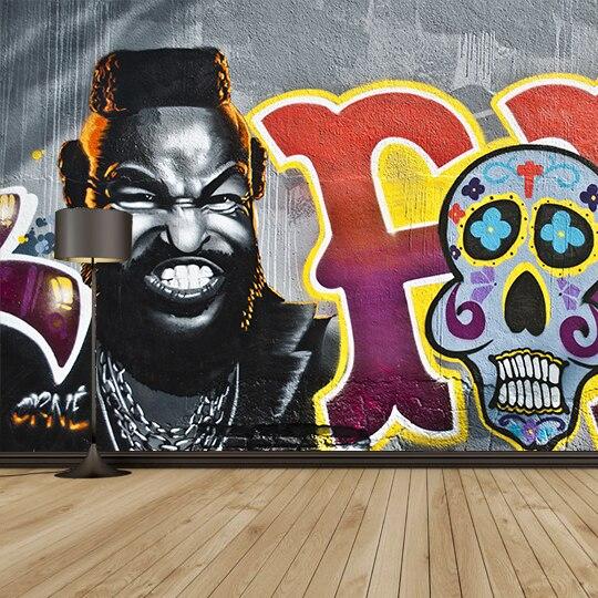Grafiti Kepribadian Karakter Mural Untuk Kopi Aula Bar Ruang Ktv