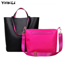 The new 2016 large capacity women tote bags Ms han edition one shoulder hand two-piece female bag