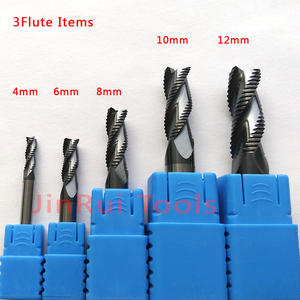 Image 3 - 4mm,6mm,8mm,10mm,12mm HRC45/55/60  4Flute or 3Flute Solide Carbide Roughing  End Mills  CNC router bit corn milling cutter Tools