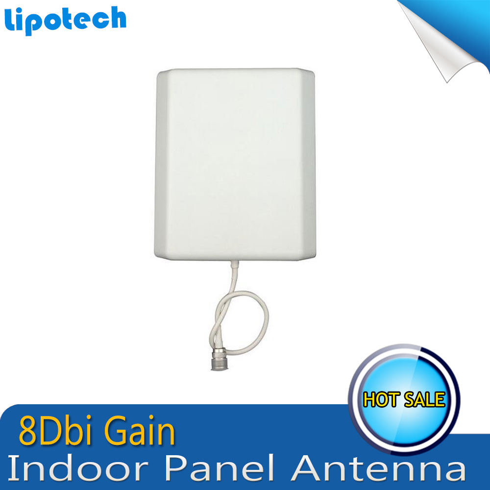 8dBi 700-2700MHz 3G 4G Indoor Panel Antenna N Female Connector For GSM CDMA WCDMA UMTS LTE Signal Booster Repeater