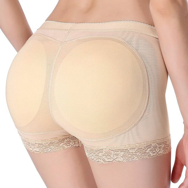 3497cb73b07 Shaper Women Boyshort Padded Panties Mesh Shapewear Butt Enhancer Seamless  Push Up Padded Panties Buttock Shaper