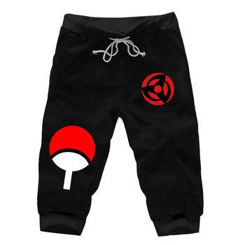08ae2d353e096 Anime Naruto Kakashi Uchiha Akatsuki Konoha Shorts Knee Length Cotton  Casual Short Harem Sweatpants Pockets Athleisure Trousers