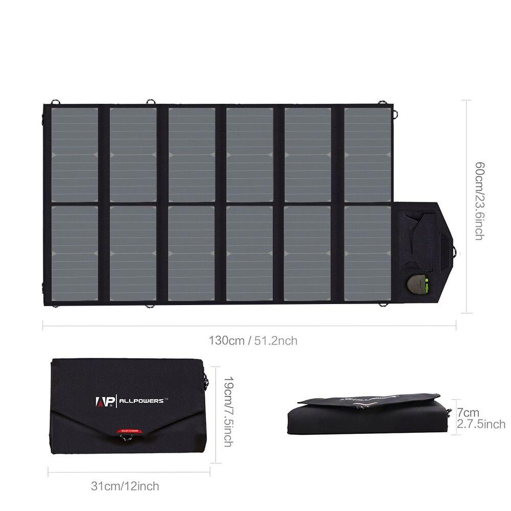 Allpowers Zonnepaneel 80W Solar Battery Charger Voor Iphone Sumsung Telefoons Lenovo Hp Dell Acer Laptops 12V Auto batterij Etc. - 2