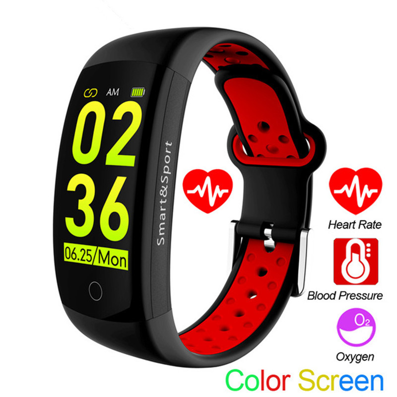 Q6S Fitness Bracelet IP68 Waterproof Support Blood Pressure Monitor Multi sport modes Pedometer Heart Rate Smart