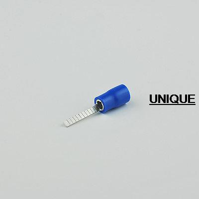 100pcs/lot 16-14 AWG DBV2-14 blue Insulated pin wire Terminals electronic spade RoHS crimping tip