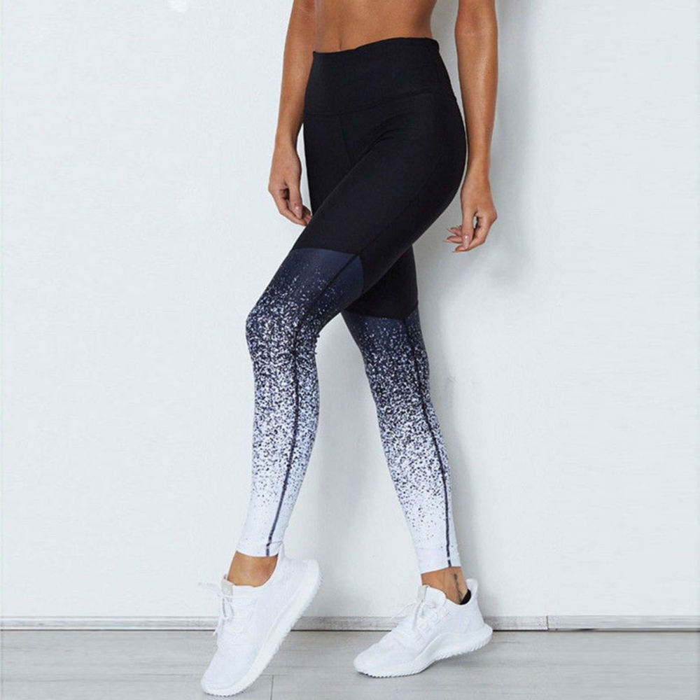 JGS1996 Quick drying Net Yarn Yoga Pants High Waist Elastic Workout Running Fitness Sport Pants Gym Leggings for Women Trouser in Yoga Pants from Sports Entertainment