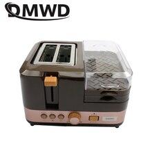 DMWD электрическая машина для выпечки хлеба, завтрака, 2 ломтика, тостер, печь, яйца, пароварка, гриль для колбасок, жаровня, омлет, сковорода, нагреватель