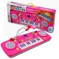 Niños Juguete de Instrumentos Musicales de Piano de Aprendizaje Multifuncional Teclado con Un Micrófono y Mezclado Preescolar Música Regalo Para Bebé
