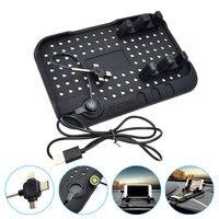 ATOBABI Universal Silicone Car Dashboard Anti Slip Mat Mobile Phone Holder GPS Stand Black Non Slip