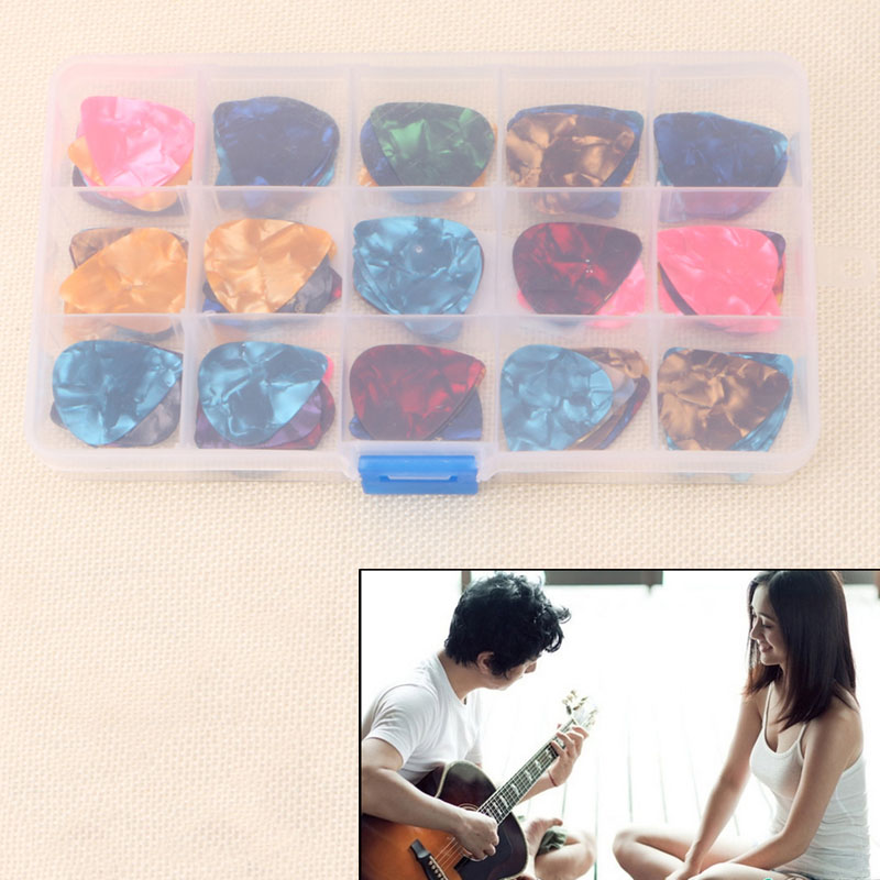 100Pcs Acoustic Electric Guitar Celluloid Picks Plectrum Plectra Various 0.46mm