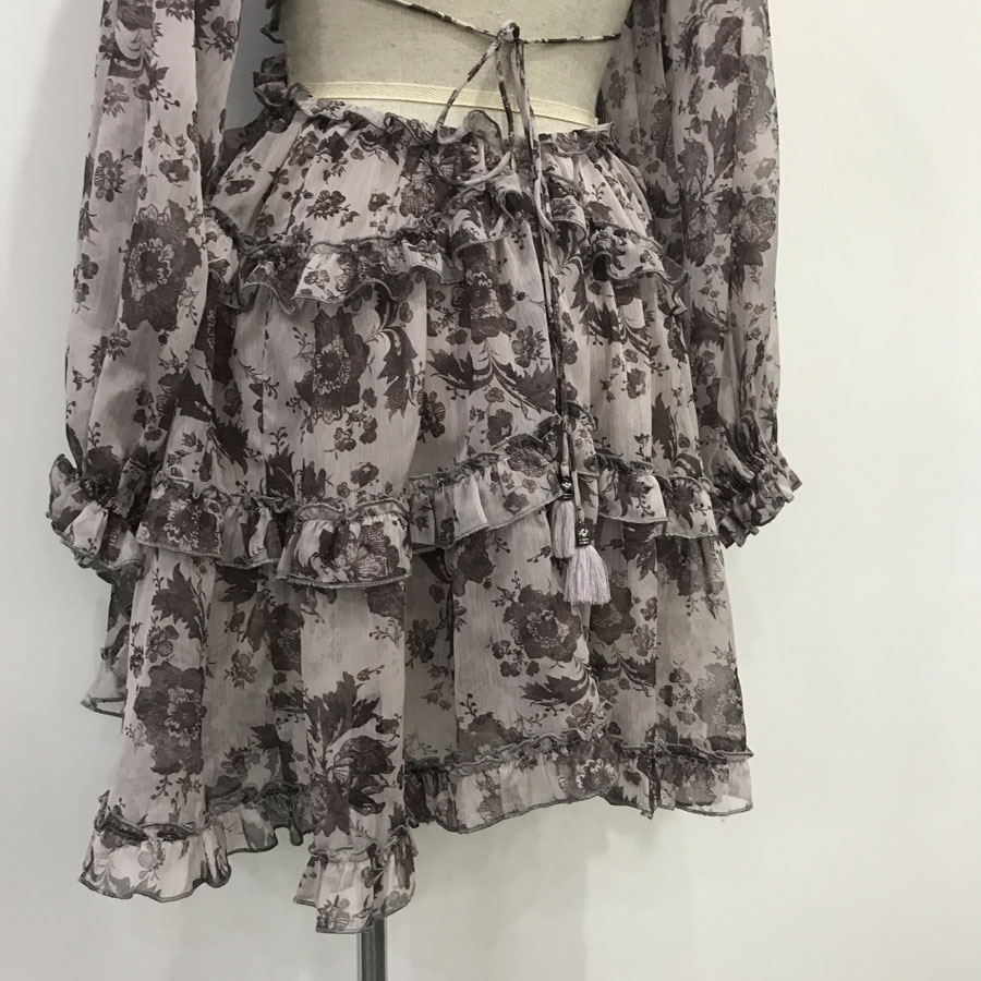 Sexy robe Dos Longues Mini Femmes Imprimé Nu Et Manches Plage Flower Haute À Vocation Robe 2019 D'été Qualité Mode Fleur qp7x1U