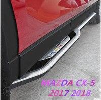 JIOYNG Car Aluminum alloy Running Board Side Step Nerf Bar Pedal For 17 Mazda CX 5 CX5 2017 2018