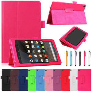 Cover Stand For Amazon Kindle Fire HD 8 2018 8th Gen Ultra Slim PU Leather Case